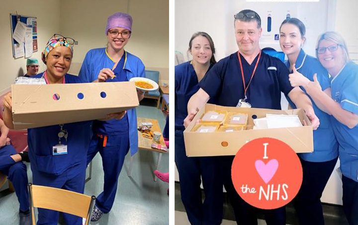 Some of the appreciative NHS teams that have already received ready meals from Gafoor Limited