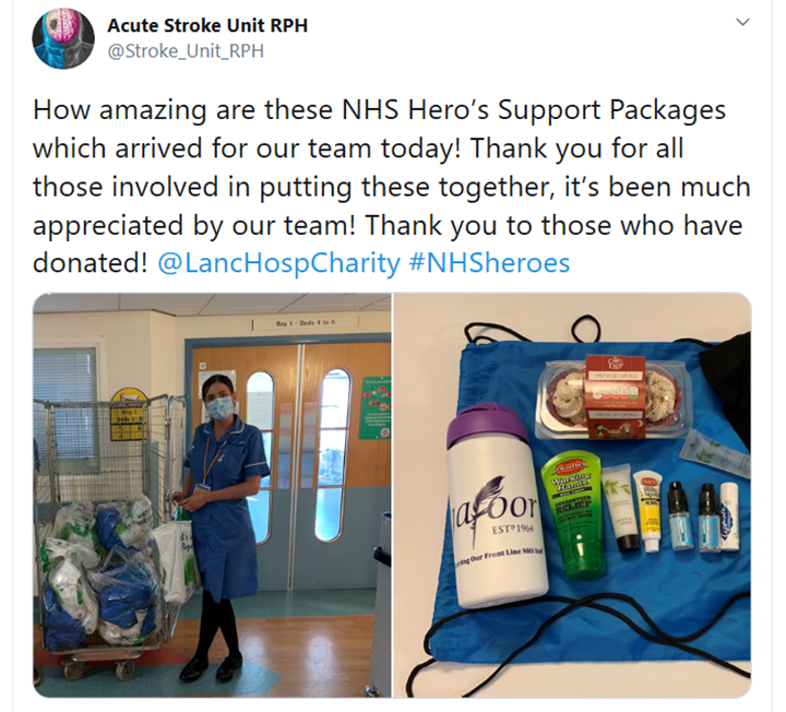A tweet from the Acute Stroke Unit