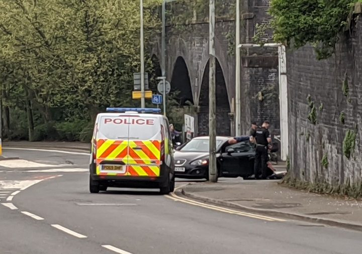 Police on the scene in Tulketh Brow Pic: Tony Worrall