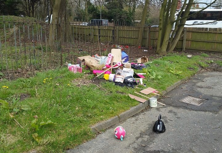 Fly tipping in South Ribble