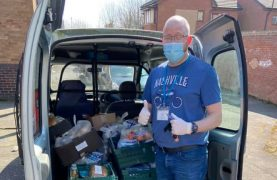 Pete from the Foxton's social enterprise team delivery food parcels Pic: The Foxton Centre