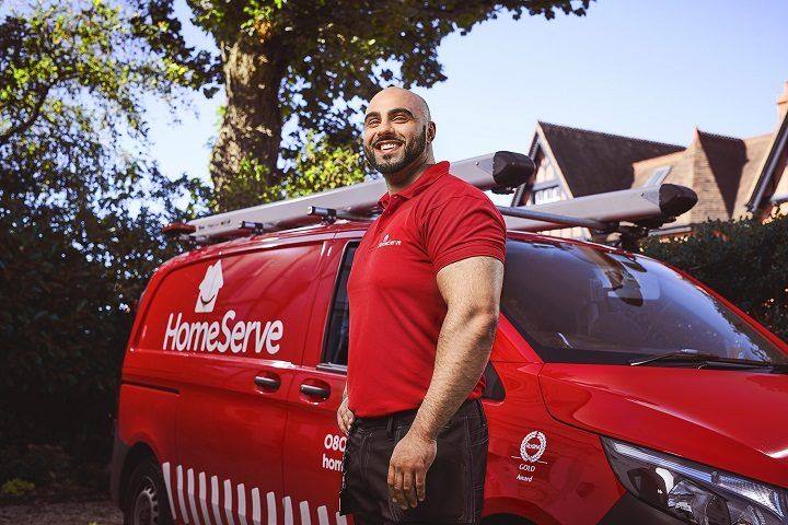 HomeServe engineer preparing for a call out