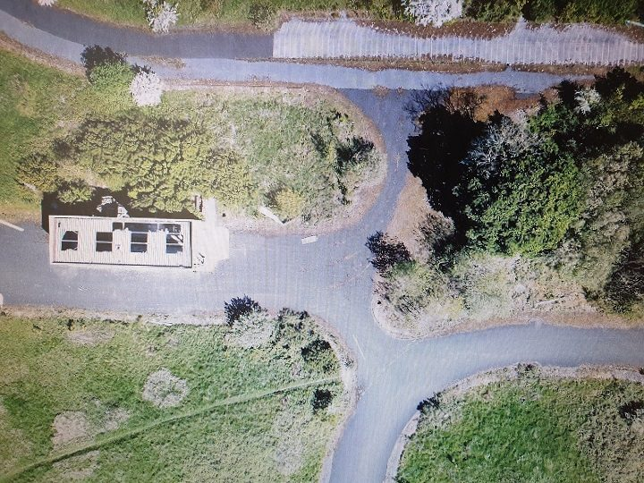 Aerial view of part of the former Leyland Motors test track Pic: South Ribble Police
