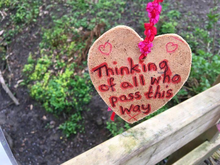 One of the notes left on the bridge at Masonwood Pic: Blog Preston