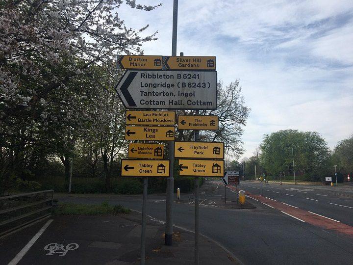 Signs for new housing developments in Preston Pic: Blog Preston