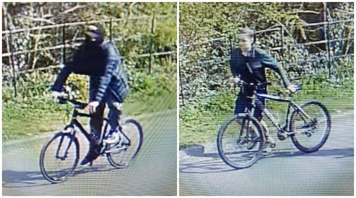 One of the young men is seen on a bike, and a young girl is seen wheeling a bike Pic: Preston Police