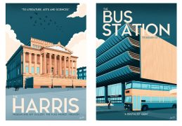 The Harris and the Bus Station got the poster treatment Pic: David Robinson