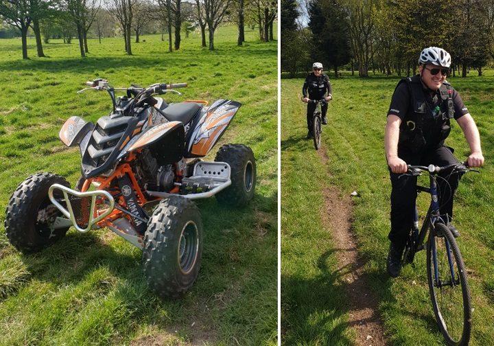 The quad bike seized at Fishwick golf course Pic: Preston Police