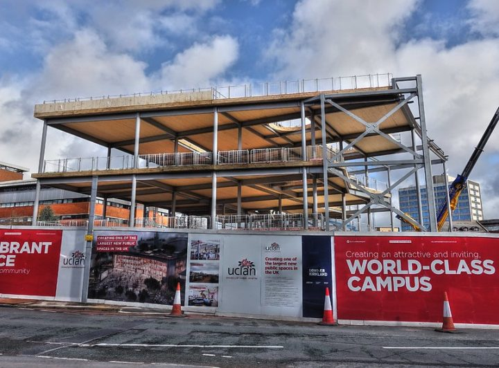 Road closures are needed as part of work to create UCLan's new £60m student centre Pic: Tony Worrall