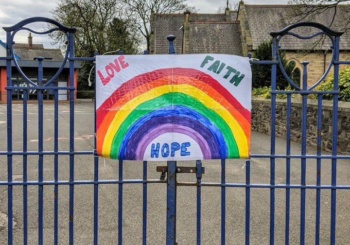 Sign on the gates of a school in Ashton-on-Ribble during lockdown Pic: Tony Worrall
