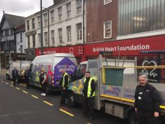 The CGA team visiting British Heart Foundation