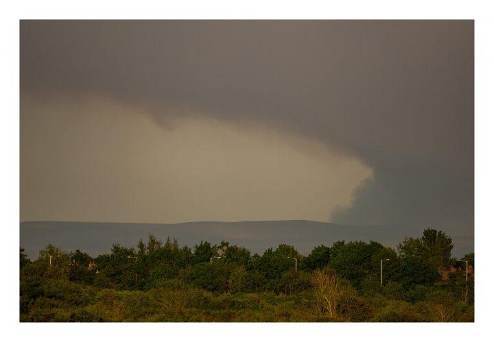 Darwen fire visible from Warton Pic: @marksmcneill