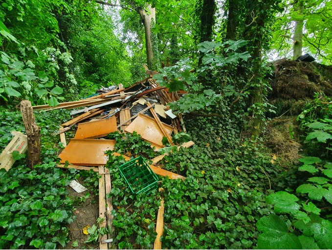 Residents claim waste has been tipped in a ravine on site