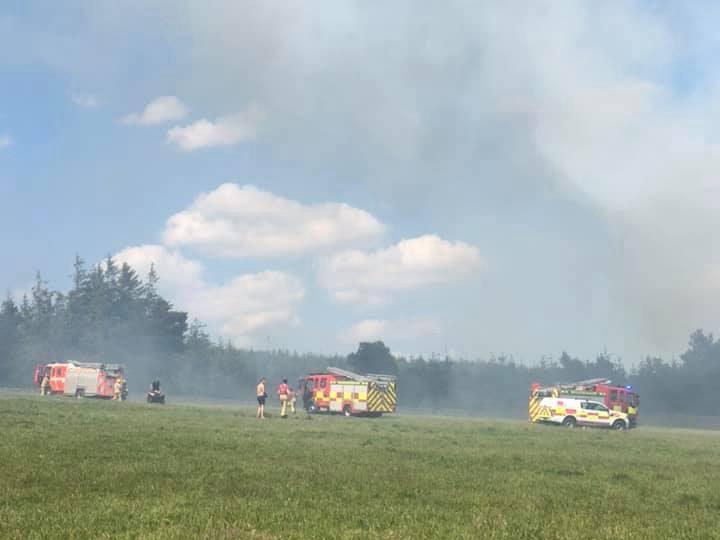 Fire service on the scene at Longridge Fell Pic: Hilary Miller