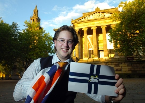 Philip with his flag design in 2010