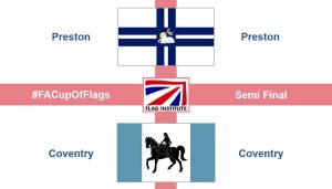 Preston and Coventry flags Pic: @FlagInstitute