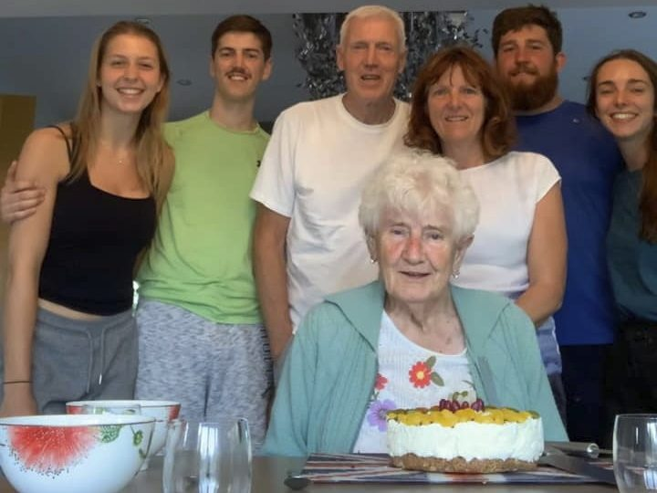 The Bradshaws celebrating Grandma Ivy's 82nd birthday in lockdown