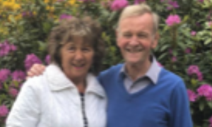 Tony Hindle with his wife Christine