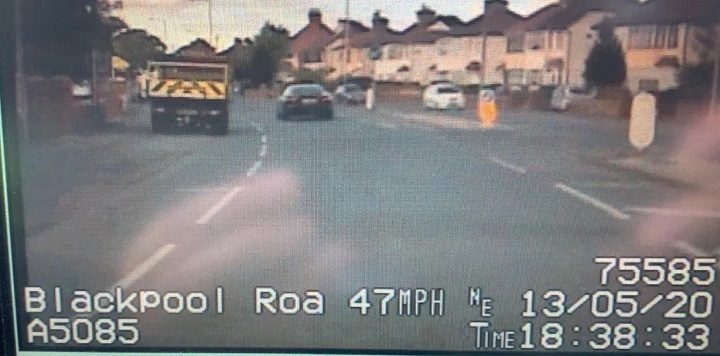 The driver caught speeding in Blackpool Road Pic: LancsRoadPolice