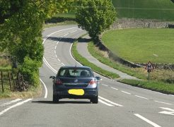 Police escorted the two men out of Cumbria Pic: Cumbria Road Police