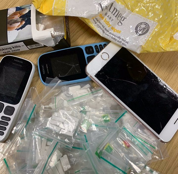 Drugs, cash and mobile phones were uncovered in the car Pic: LancsPoliceTacOps
