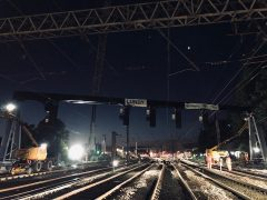 Engineering work took place at Preston throughout the Bank Holiday weekend Pic: Network Rail
