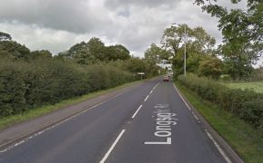 Longsight Road, the A59, was closed for nearly seven hours as police investigated the crash Pic: Google