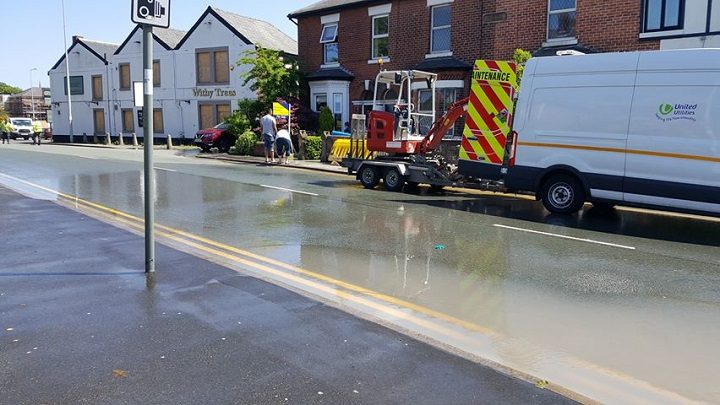 United Utilities in Lytham Road Pic: Di Guzik