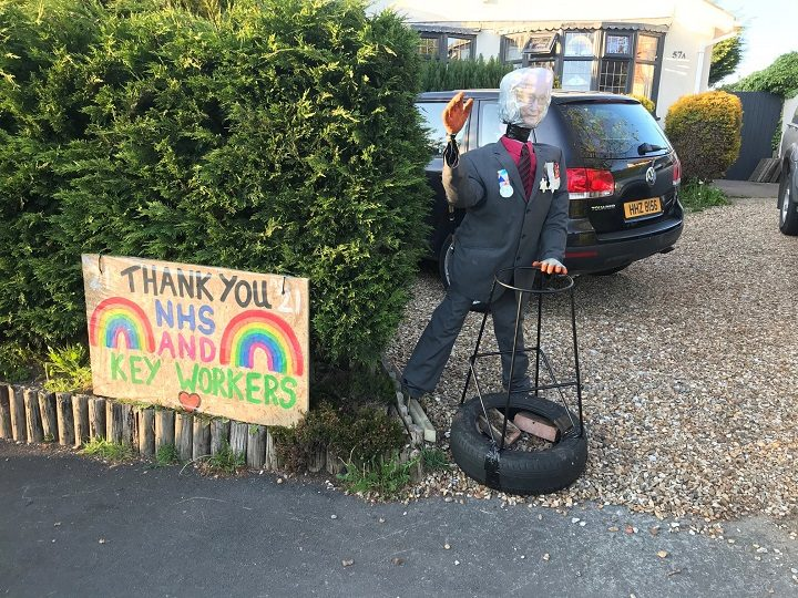The NHS and thank you messages feature heavily in this year's scarecrow trail