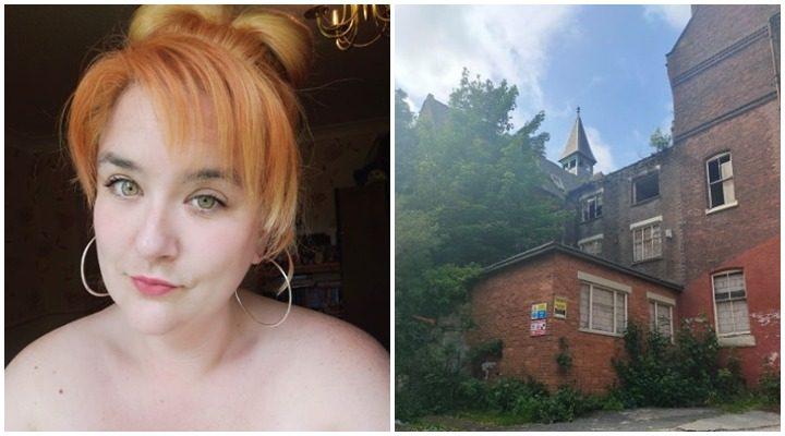 Leonie Thomas and the tower at St Joseph's Orphanage Pic: Leonie Thomas/Blog Preston