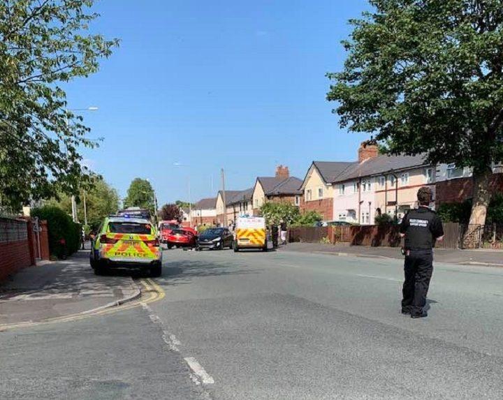 Police on the scene in Ribbleton Avenue Pic: Stephen Melling