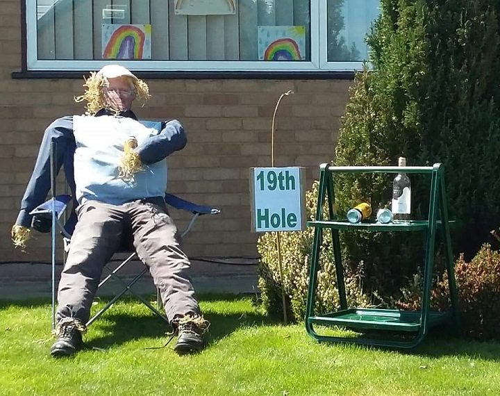 One of the scarecrow's put out by residents in Marston Moor Pic: Penny Whittaker/Blog Preston