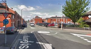 St George's Road at the roundabout where it meets Harewood Road Pic: Google
