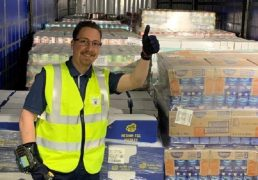 Tesco team distribution trainer Martin Fillo with one consignment ready to go