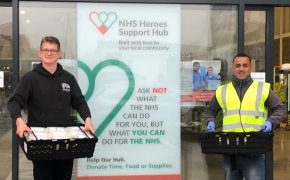 Will Walne delivering meals at the NHS Heroes Support Hub in Fulwood