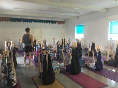A yoga class at Mandala