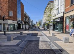 An empty Fishergate in Preston during the coronavirus pandemic Pic: Tony Worrall