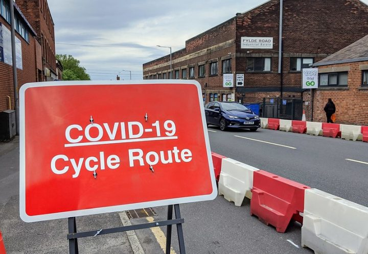 One of the Preston cycle routes introduced during the coronavirus pandemic Pic: Tony Worrall