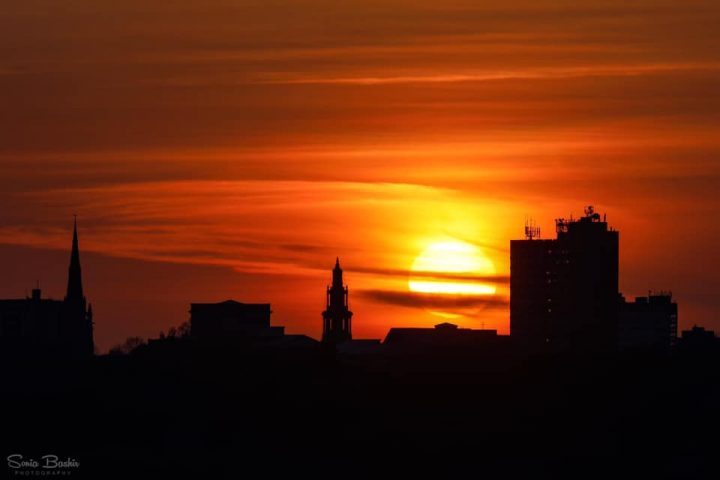 One of Sonia Bashir's stunning sunset pictures over the city Pic: Sonia Bashir