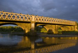 Railway Bridge over River Ribble Pic: David Toase