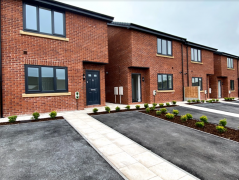 High spec new CGA homes recently completed at Steeple View, Tulketh Brow, Preston