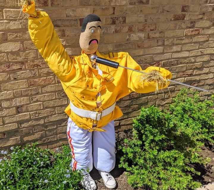 Scarecrow Freddie Mercury Pic: Tony Worrall