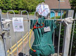 Scarecrow medic Pic: Tony Worrall
