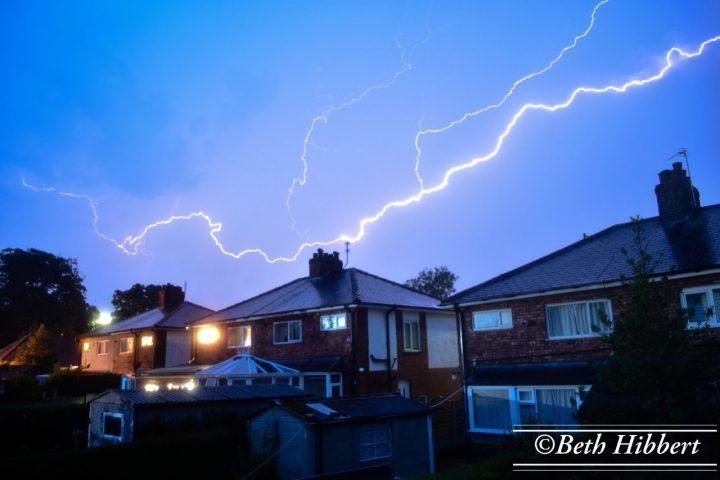 Lightning Strike in Penwortham during last nights (June 16) storm