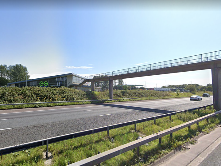 M61 near Bolton West Services Pic: Google Maps