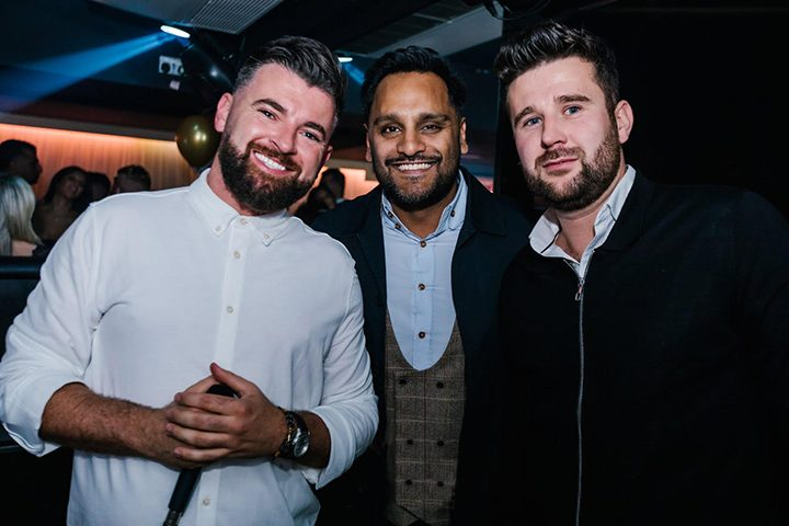 Nick (left) with business partners Hiran and Ryan