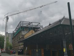 The crane at the Shankly Preston Pic: Stephen Geraghty