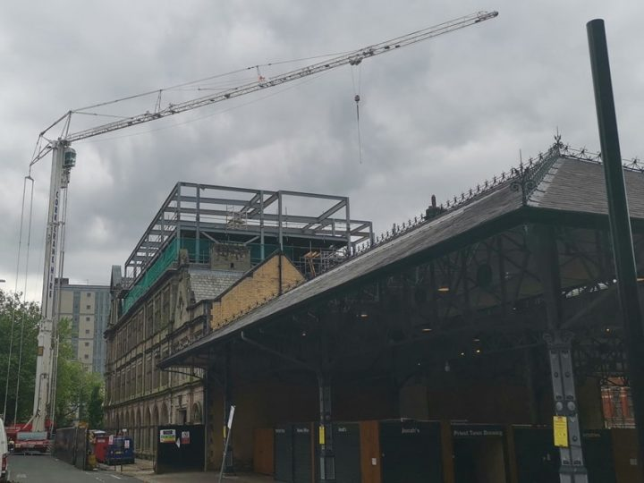 The crane at the Shankly Hotel Pic: Stephen Geraghty