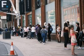 Queues outside the Fishergate Shopping Centre and Primark Pic: Paul Melling