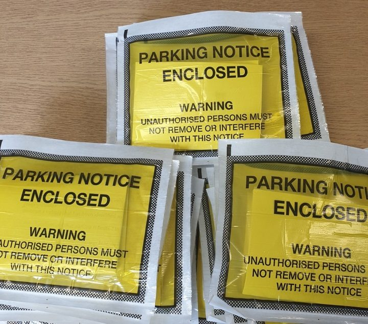 Parking notices lined up and ready to go from police Pic: Chorley Police